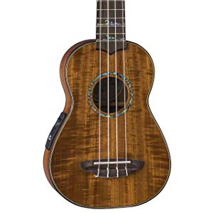 Luna High Tide Koa Acoustic Electric Soprano Ukulele