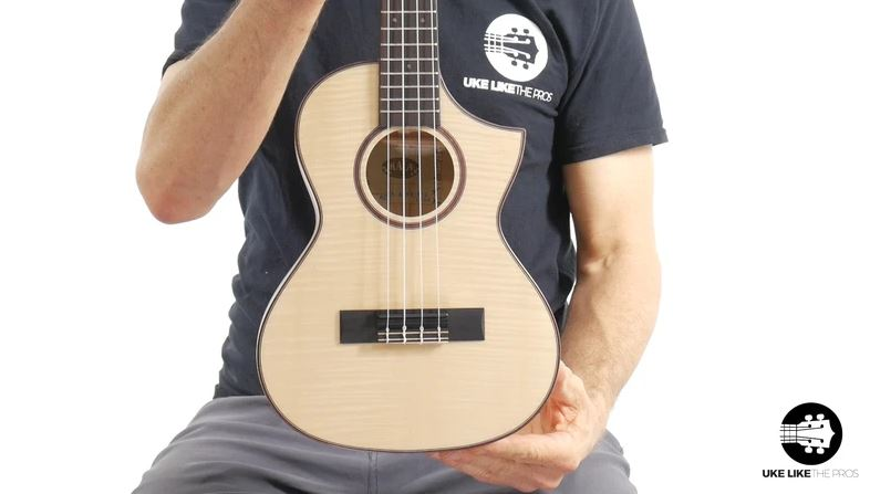 Kala Solid Flame Maple Tenor Cutaway Ukulele