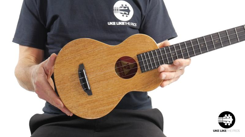 Rebel Double Creme Long Neck Concert Ukulele