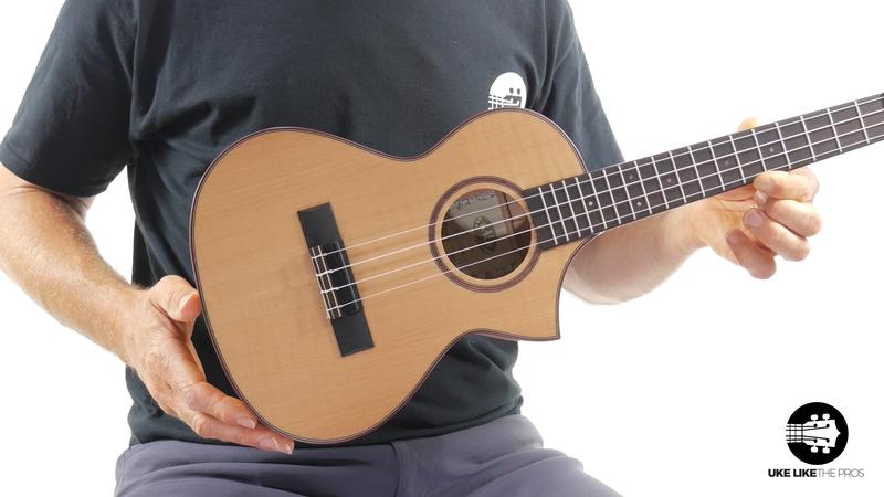 Kala Solid Flame Maple Cutaway