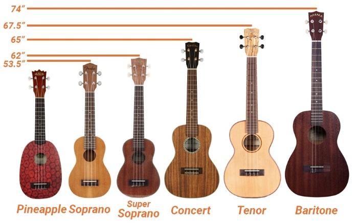 ukulele size chart